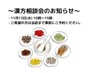 11/13漢方相談会
